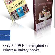 Hummingbird or Primrose Bakery Books from WH Smiths for £2.99 with O2 Priority Today Only!!