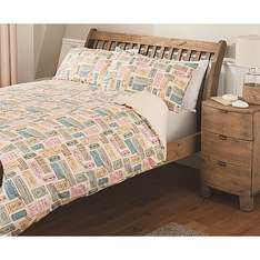 Asda george Home Vintage Tickets Duvet Set now £3 for double £2.50 for single