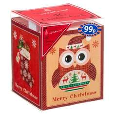 10p Mini Cube Christmas Cards 40 pack Lots of designs @ B&M Stores