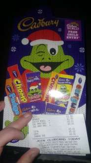 TESCO Cadburys xmas 8 pack selection box - 1p instore