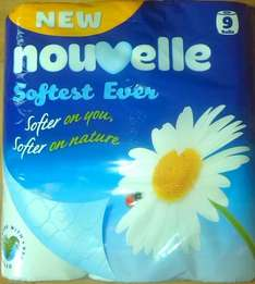 Nouvelle Softest Ever Toilet Tissue 9 Roll Pack Now £2.25 @ Premier Stores