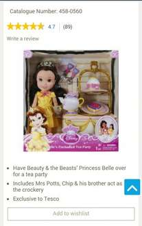 Disney Princess Belles Enchanted Tea Party Doll reduced from £40 to £10! toton tesco nottingham