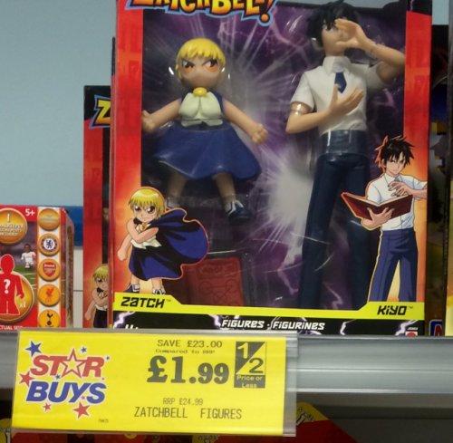 Zatchbell figures @ home bargains instore - £1.99