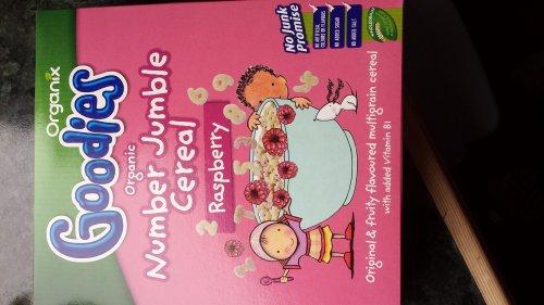 Organix number jumble cereal £1 in Poundland