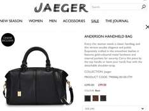 ALL JAEGER handbags reduced to £99.00 !!!