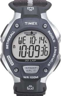 Timex Ironman Men's Digital Watch with LCD Dial Digital Display and Black Fabric and Canvas Strap - £13.44 Amazon