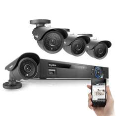 SANNCE® 8CH Security Surveillance 960H DVR with 1TB HDD System and 4 Outdoor 800TVL Weatherproof Cameras Built-in IR-Cut Filter, Free DDNS / P2P Function / QR Code Scan / Easy PC Remote Access £189.99 @  SANNCE Fulfilled by Amazon
