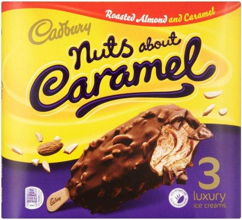 Cadbury Nuts about Caramel Ice Creams (3 x 100ml) was £2.00 now £1.00 @ Ocado