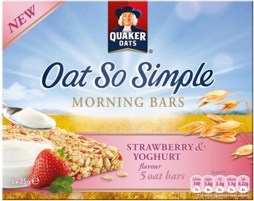 Quaker Oat So Simple Morning Bars Strawberry & Yoghurt (5 x 35g) was £1.79 now 89p @ Ocado