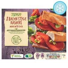 Tesco Meat Free 8 Bacon Style Rashers 150G 2 for £3 @ Tesco