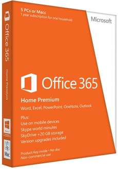 Office 365 Home Premium - 5 licence pack £39 (down from £79) in Tesco, Ayr but possibly national. - see note added below for other stores reported with stock at this price