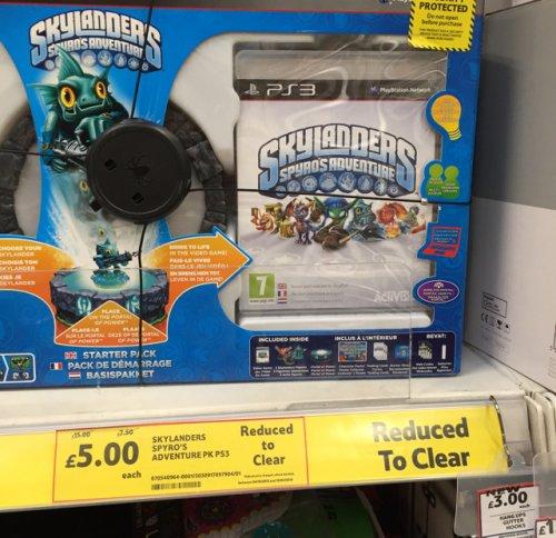 Skylanders PS3 - £5 instore @ Tesco
