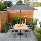 B&Q Metro 4 Seat Dining Set With Parasol & Base was £789.90, now only £195.98 less 5% quidco too!