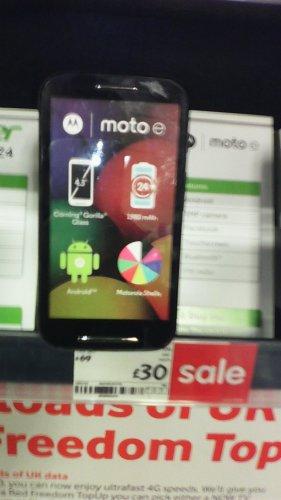 Motorola moto E mobile phone - £30 @ Asda Instore