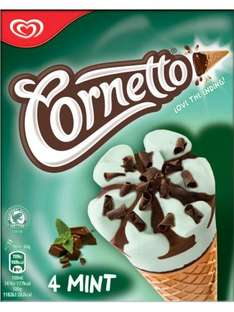 50p Mint Cornettos (4x90ml) @ Morrisons...