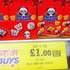 Hello Panda biscuits. 4 boxes for £1 or 29p each at Home Bargains!