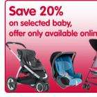 20% off baby items at boots