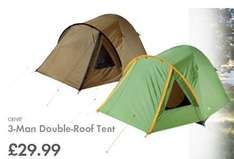 LIDL - 3 Person Double-Roof Tent with integral mosquito net - £29.99 - 27th April - Plus £5 off £40 spend voucher in Saturday's (25th April) newspapers - See deal description