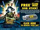 Star Wars / Clone Wars USB Memory Stick (Free but £1.99 postage)