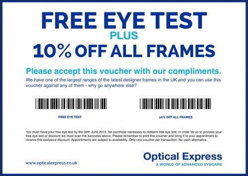 Free Eye Test @ Optical Express