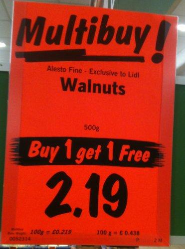 Alesto Fine Californian Walnuts 1 Kg @ Lidl for £2.19