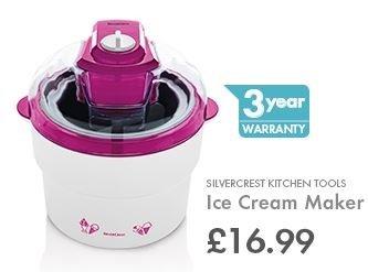 Silvercrest 1L Ice Cream Maker - LIDL £16.99 - 3 Year Warranty - 15th June
