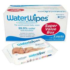 Ocado - Waterwipes (buy one value pack for £19.99 and get second value pack half price)