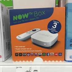 now tv box with 3 months entertainment pass £20 @ Asda instore