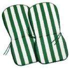 Tesco Seat & Back Pad Green Stripe - Pack Of 2 Was £12.00 -Now £3.00 - Save 75%