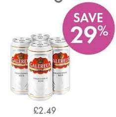 LIDL Premium Lager - Galereux 4.8% - 4 X 440ml £2.49 - PRICE UPDATE - Now £2.19 -
