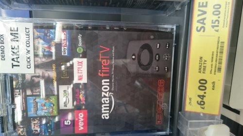 Amazon Fire TV £64 at Tesco,  Argos,  PC world & Curry's