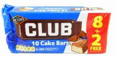 Jacobs CLUB CAKE BARS 20 4 £1 @ Swinco +  £4.75 delivery