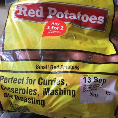 2kg Red Potato Instore Tesco Express 3 for 2 99p