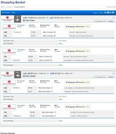 Flight London Heathrow (LHR) to Los Angeles (LAX) - From 28/10/15 to 11/11/15 (14 days) -  £282pp @ travelup