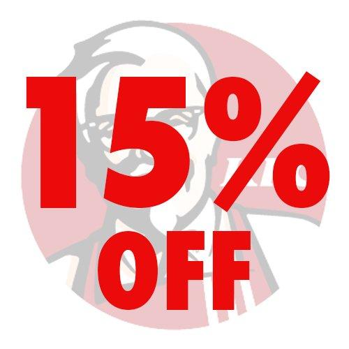 15% STUDENT discount at KFC