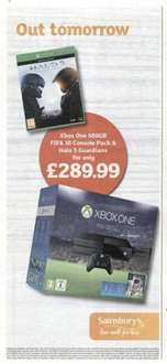 Xbox One 500gb Fifa 16 Console bundle and Halo 5 Guardians £289.99 @ Sainsburys