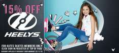 Heelys 15% off when you register at Kateskates and free delivery over £10