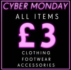 Cyber Monday at Daisy Street - all items £3 each!
