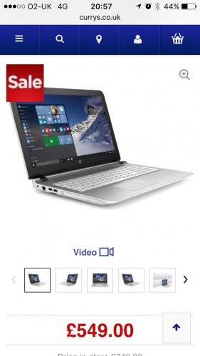 """HP Pavilion 15-ak085na 15.6"""" Laptop - White  Currys £549"""