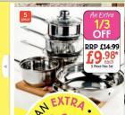 5 Piece Pan Set - Netto - Thursday 2nd Oct - £9.99