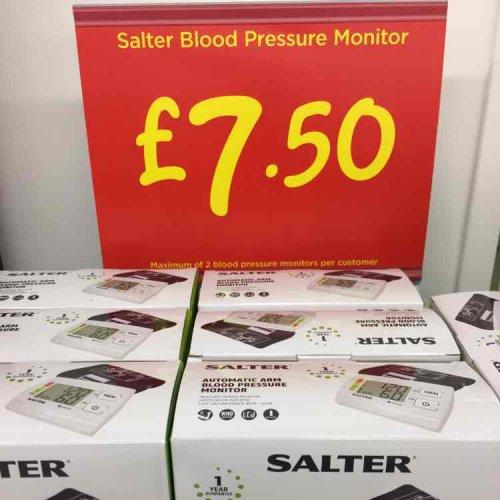 Salter blood pressure monitor. £7.50 @ asda in-store.