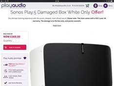 Sonos Play:5 Damaged Box White Only £369 - Play 1 £149 playaudio.co.uk