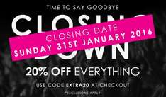 Tucci closing down sale 2 days left