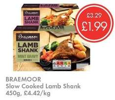 Lamb Shank - £1.99 - LIDL (Braemoor) - Mint Gravy or Red Wine & Rosemary Gravy 450g - SLOW Cooked - Was £3.29