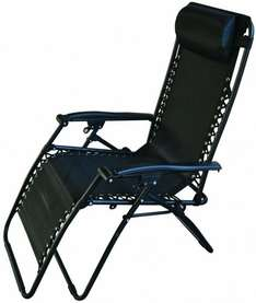 Redwood Leisure Textilene Reclining Chair - Black £21.06 delivered at Amazon