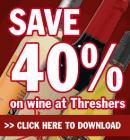 40% off WINE @ Threshers !