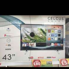 """Celcus 43"""" Full HD LED Smart TV with Freeview HD £200 @ sainsburys"""