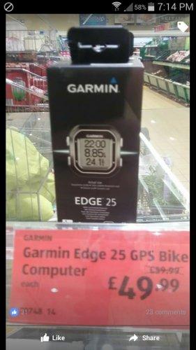 Garmin Edge 25 instore £49.99 @ Aldi