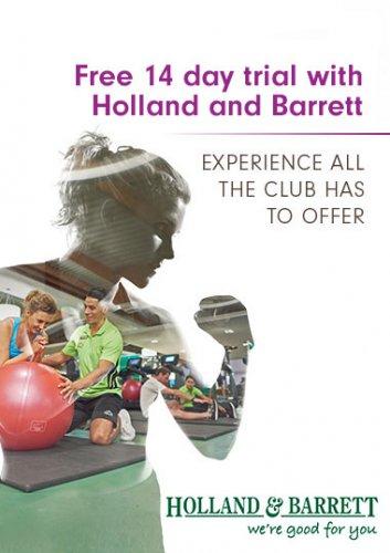 14 Days Free at David Lloyd (Holland and Barrett offer)