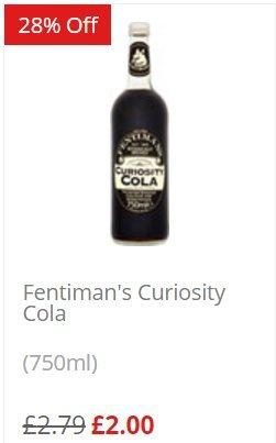 Fentimans 750ml bottles down to £2 at Waitrose